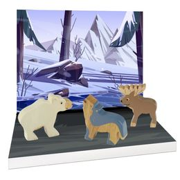 Nordic Arctic Animals (Rubberwood)