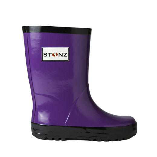 Rain Bootz, Purple/Black - 21